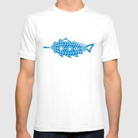 Nautilus Under The Sea Mens Fitted Tee White SMALL