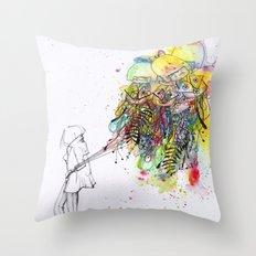 Foreign Girl Throw Pillow