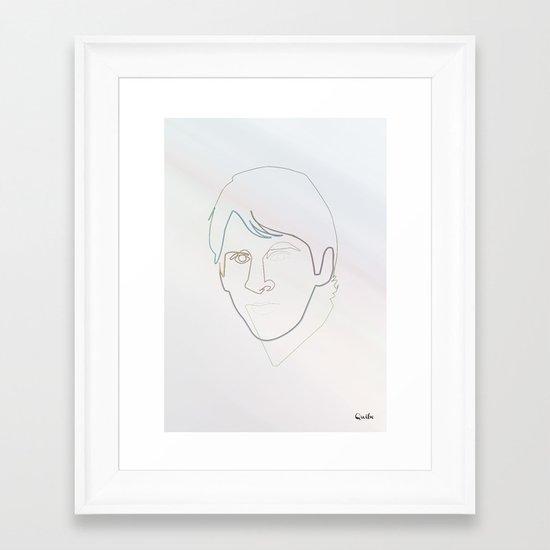 One line Leo Messi Framed Art Print