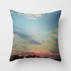 Dark Clouds File in When the Moon is Near Throw Pillow