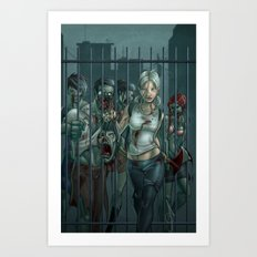Zombie Slayer Art Print