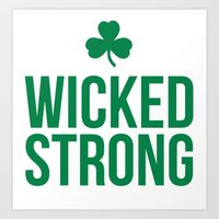 Wicked Strong Green Art Print