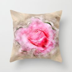 Study In Watercolor Rose… Throw Pillow