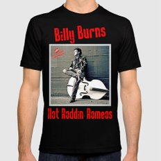 Rockin' Billy Burns SMALL Black Mens Fitted Tee
