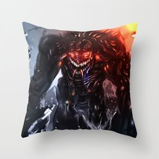 Shadow Titan Throw Pillow