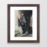Snowscape V Framed Art Print
