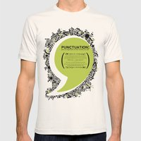 Punctuation [Appreciation]. Mens Fitted Tee Natural SMALL