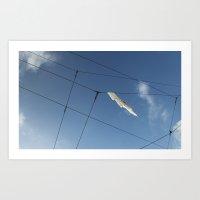 Wire Hangling Art Print