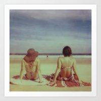 Beach Days, Polaroid Art Print