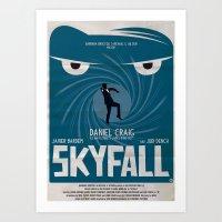 SKYFALL Art Print