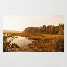 Autums Peaceful Tomorrow - New England Fall Landscape Rug