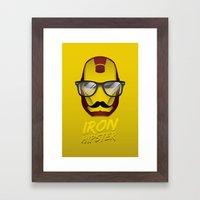 Iron Hipster 2 Framed Art Print