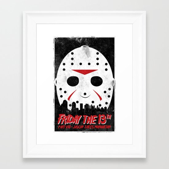 Friday The 13th Part VIII Framed Art Print