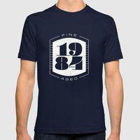 Fine Aged 1984 - Light Mens Fitted Tee Navy SMALL