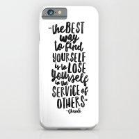 FIND YOURSELF - Ghandi iPhone 6 Slim Case