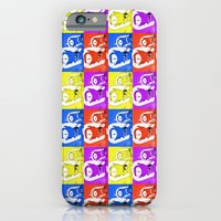 iPhone Cases featuring Pop Art Simpsons Aliens by Amanda Roof