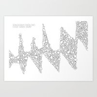 Sonogram Overload Art Print