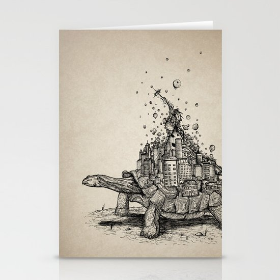 Tortoise Town Stationery Card