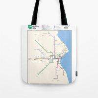 Milwaukee Transit System Map Tote Bag