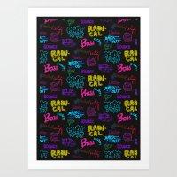 Fresh Type Day - Color E… Art Print
