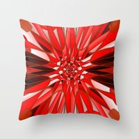 Red mineral Throw Pillow