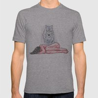 Wolf And I Mens Fitted Tee Athletic Grey SMALL