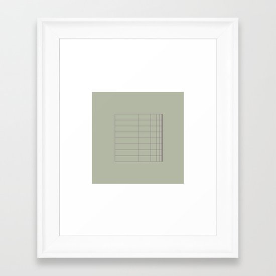 #8 A grid bent – Geometry Daily Framed Art Print