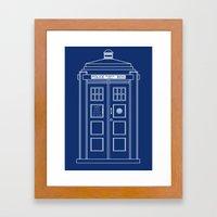 TARDIS Blueprint - Doctor Who Framed Art Print