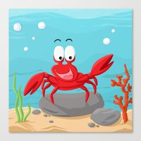 Crab from the Sea series Canvas Print