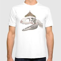 Rex, The King Of Dinosau… Mens Fitted Tee White SMALL