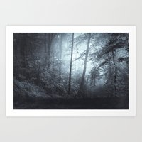 Blue Mystic ForesT Art Print