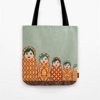 Red And Yellow Matryoshk… Tote Bag