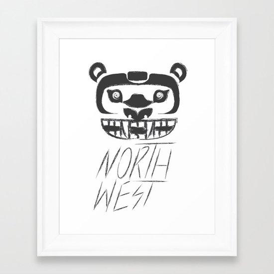 Northwest Or. Logo Tee. Framed Art Print