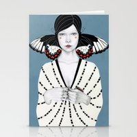 butterfly Stationery Cards featuring Mila by Sofia Bonati
