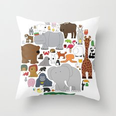 The Animal Kingdom Throw Pillow