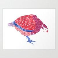 Pretty Partridge Art Print