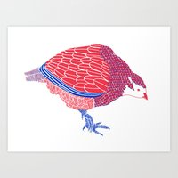 Pretty Partridge Art Print