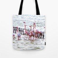 Flamingos Dancing Tote Bag