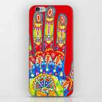 A really colourful hand iPhone & iPod Skin