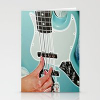 Mr Bassman Guitar fractals Stationery Cards