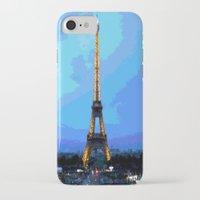 eiffel iPhone & iPod Cases featuring Eiffel by osile ignacio