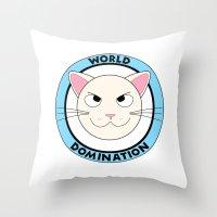 World Domination Throw Pillow