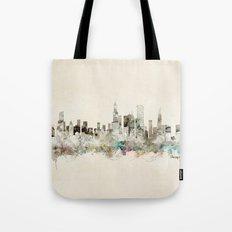 chicago city skyline Tote Bag