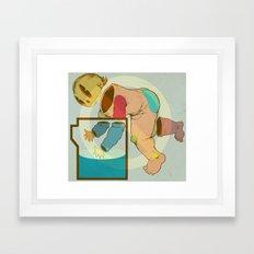 Baby Bucket Framed Art Print