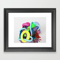 Stained Structuring Framed Art Print