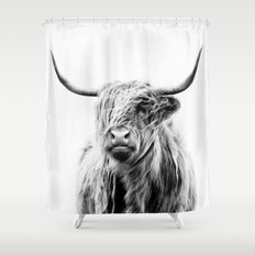 Portrait Of A Highland C… Shower Curtain