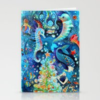 Christmas In The Ocean Stationery Cards