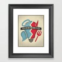 Two Kinds Of Ideas Poste… Framed Art Print