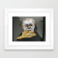 Bukowski & the age old fight Framed Art Print