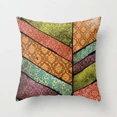 Vintage Material Chevron Throw Pillow